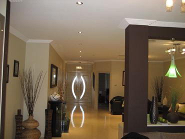 Use downlights to create a modern look
