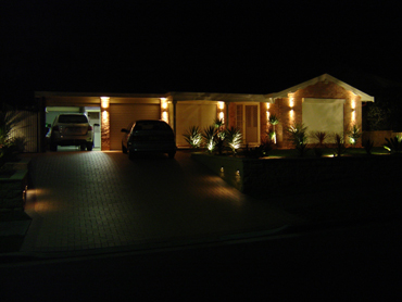 Outdoor lighting for security